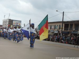 Parade by the Women's Association of the Apostolic Church in Cameroon.