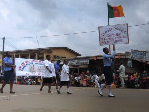 Peace Eberechukwu, leads the advocacy march
