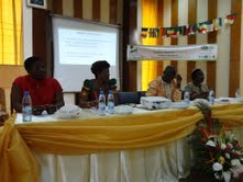 Particpants at debate on equality in forest sector Photo credit: Leocadia Bongben