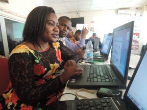 Cameroonian bloggers @ Blogging for good governance workshop