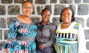 L-R: Caroline Bongwa -Mayor ,Bamenda 1 Council; Comfort Mussa-Sisterspeak237; Beatrice Tebe -Mayor Mbengwi Council