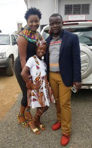 Courage and her parents,Mr and Mrs Anyam