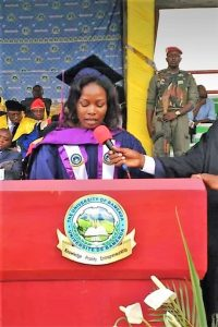Kinyuy Tatiana Ngalim - 2018 Best graduating student, University of Bamenda
